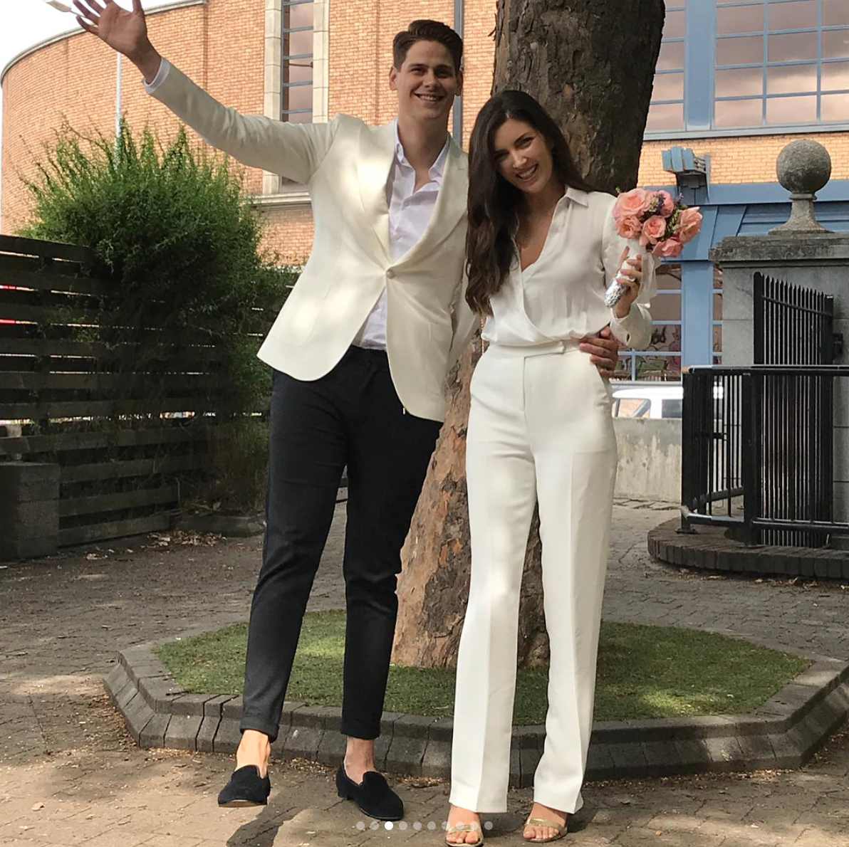 This Irish model just got married in a white jumpsuit and we are WEAK