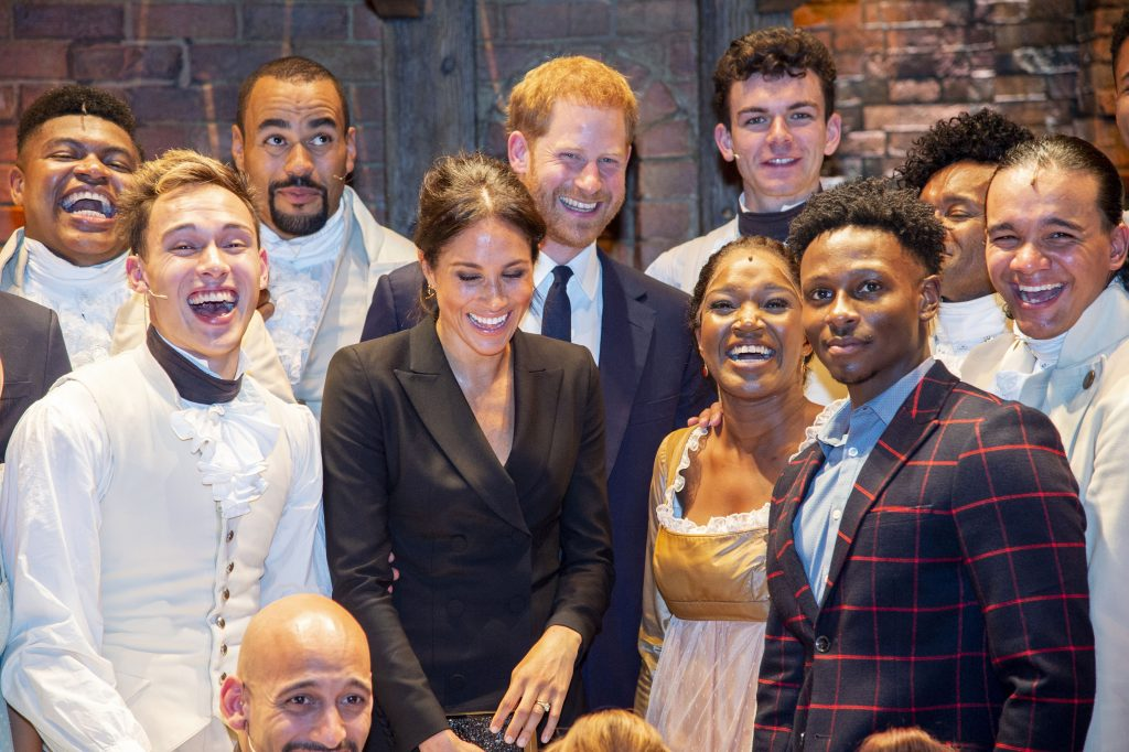 Prince Harry and Meghan Markle Dazzle During Date Night at the Theater