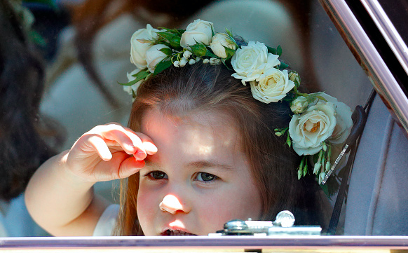 Prince George and Princess Charlotte at Sophie Carter's wedding to Robert Suggs