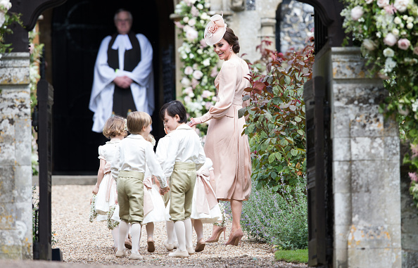 Kate Middleton attended a close friend's wedding with her family in tow
