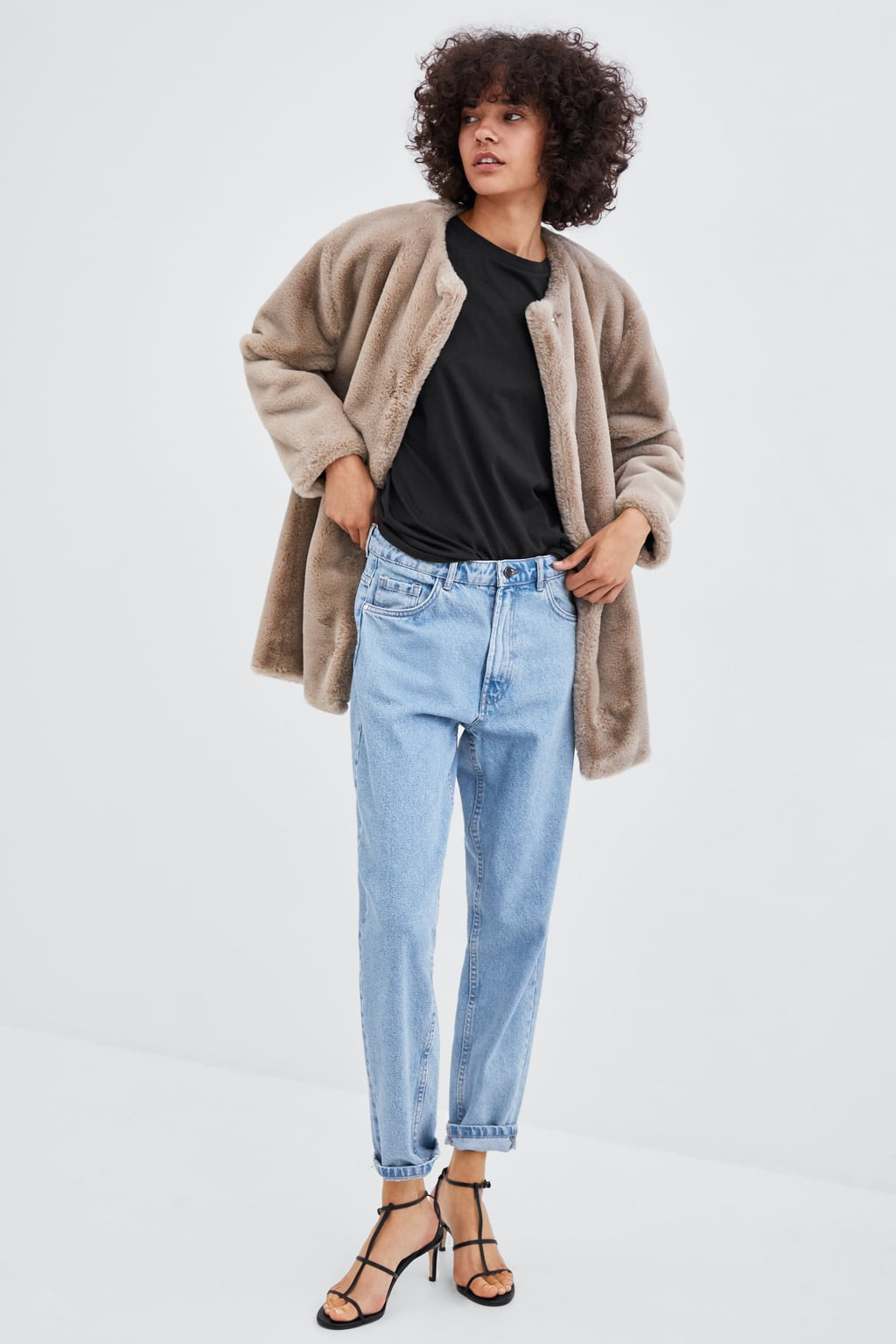 This BEAUTIFUL fur coat is somehow just €26 in Zara and we're confused