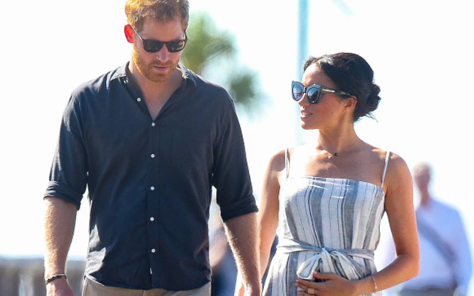 Meghan Markle Flaunts Her Growing Baby Bump With The Royal Family