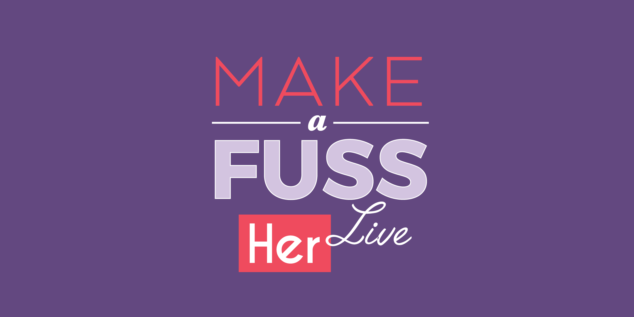Our networking event Make A Fuss Live is coming back - with some very special guests