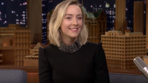 Saoirse Ronan and Jimmy Fallon singing Fairytale of New York is karaoke goals