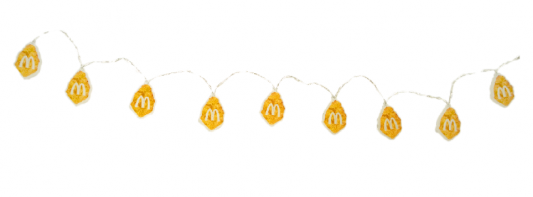 chicken nugget Christmas decorations