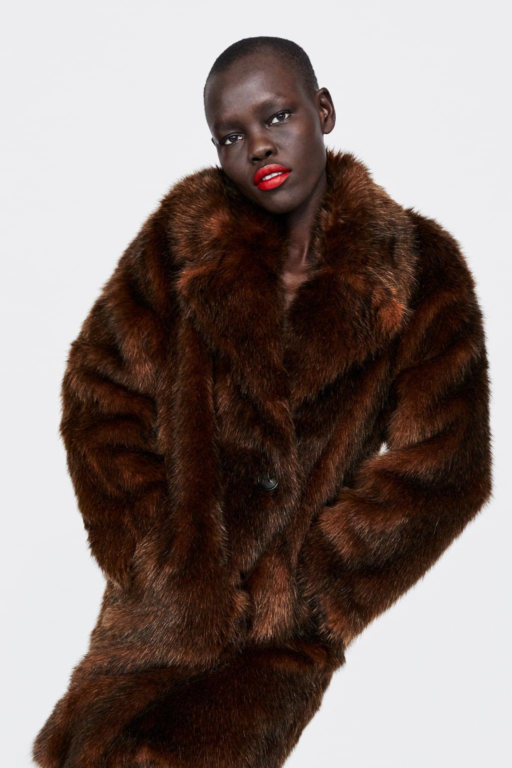 094c4a05 The €60 faux-fur coat from Zara that legit looks like it ...