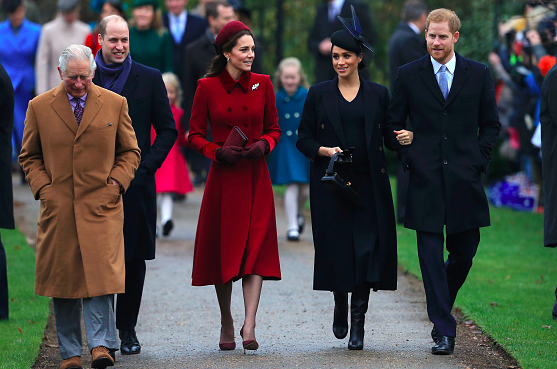Kate and Meghan put on united front for Christmas Day service