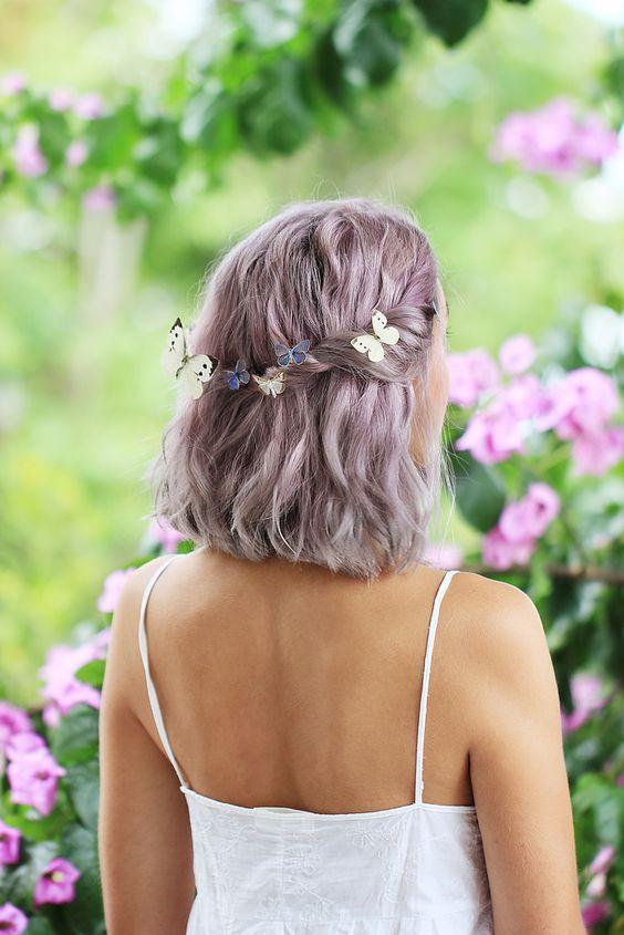 soft lilac hair