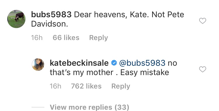 Kate Beckinsale posts VERY sassy response to fan question about Pete Davidson
