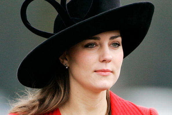 Kate Middleton Wears White Catherine Walker Coat Dress