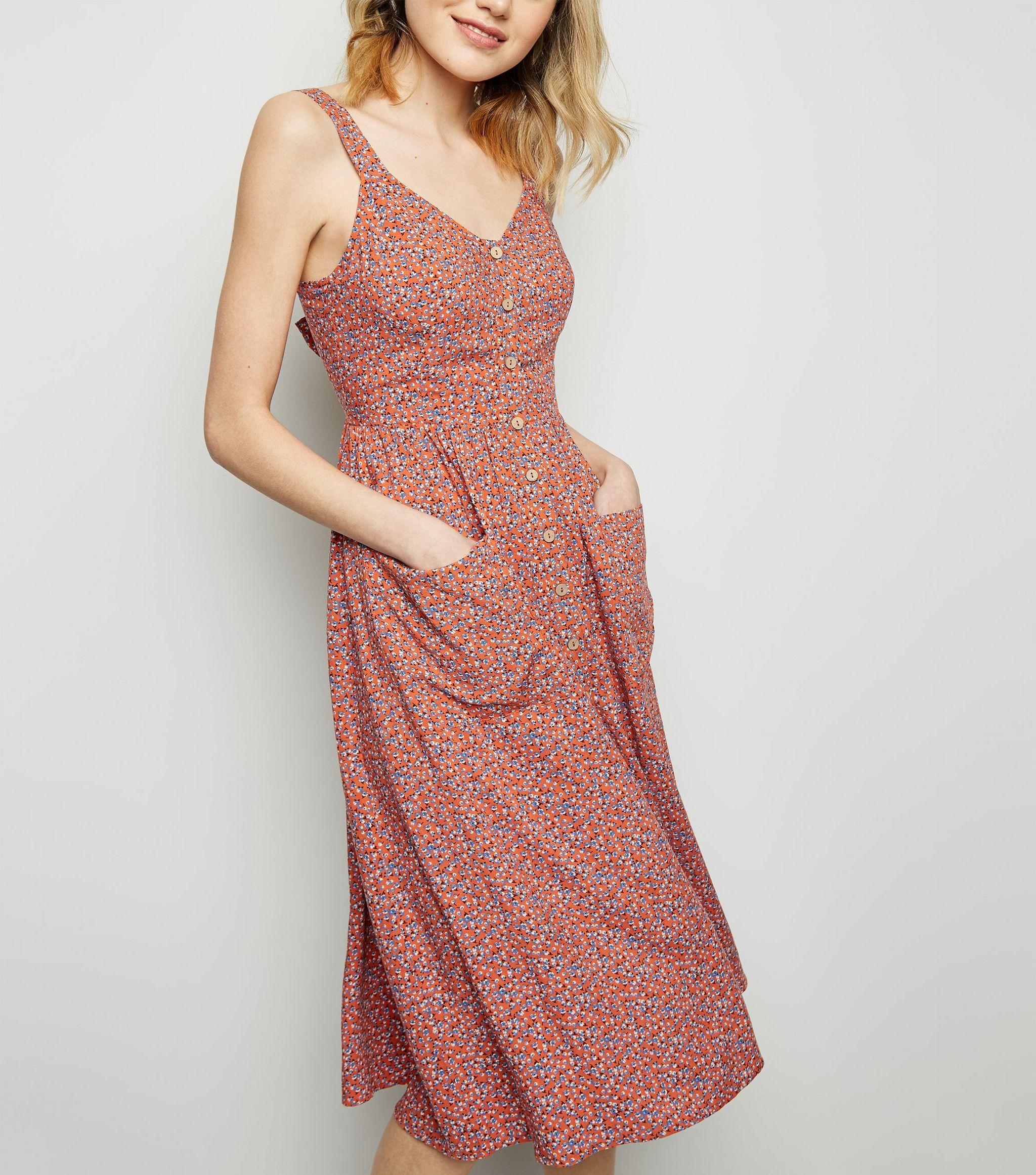6b387c51ee37 New Look Floral Print Midi Dress | Saddha