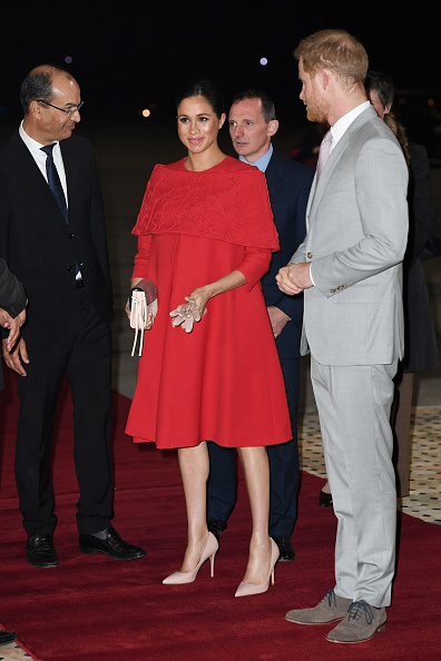 1e817c18710 Meghan Markle just arrived in Morocco wearing the most STUNNING red ...