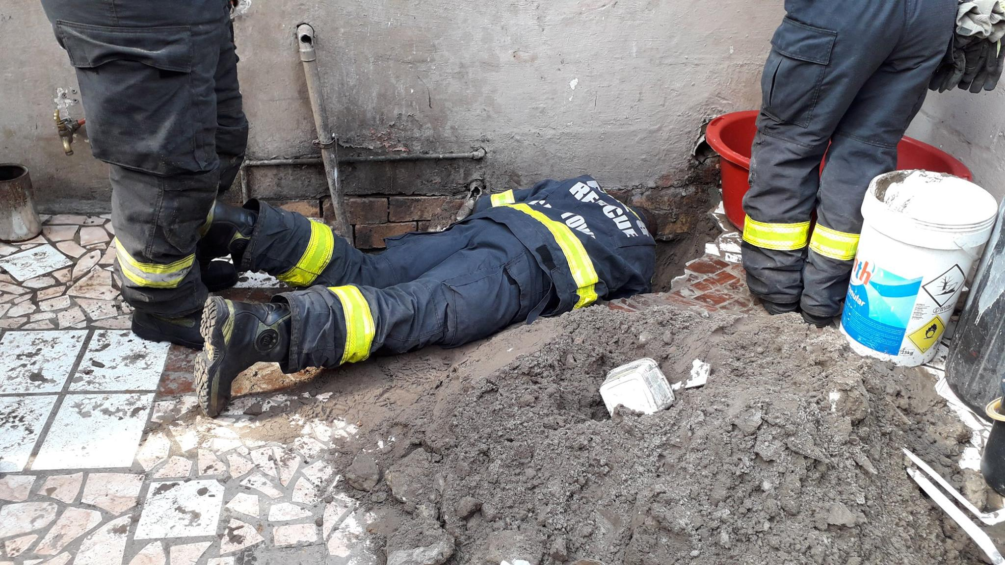 Tiny puppy recovering after 'terrifying ordeal' of being trapped in drain pipe