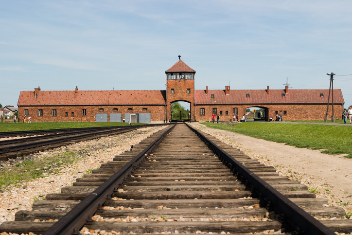 Auschwitz Memorial pleads with visitors to stop playing on deathcamp tracks