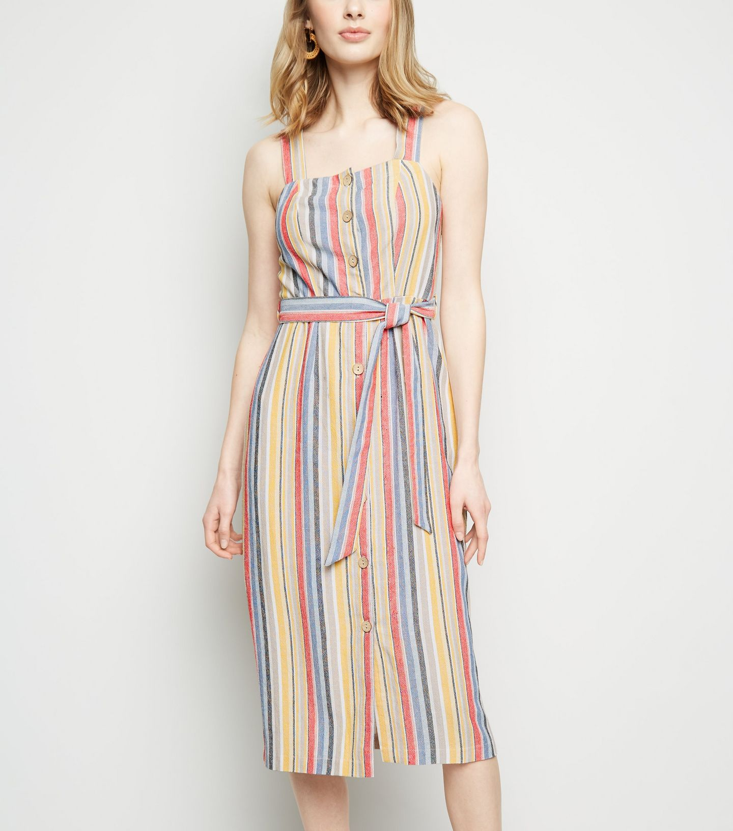 1cbe6f5633 Another New Look piece we are loving lately is this off white stripe tiered  wrap dress from