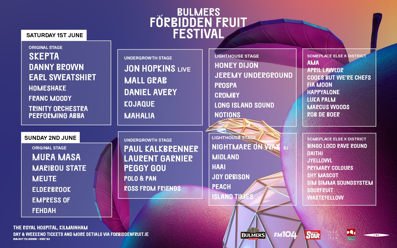 5 weeks to Forbidden Fruit - here's a day-by-day and stage