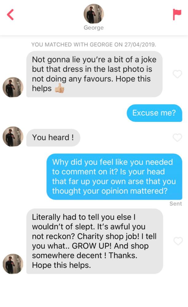 Super helpful guy sends Tinder match fairly grim message