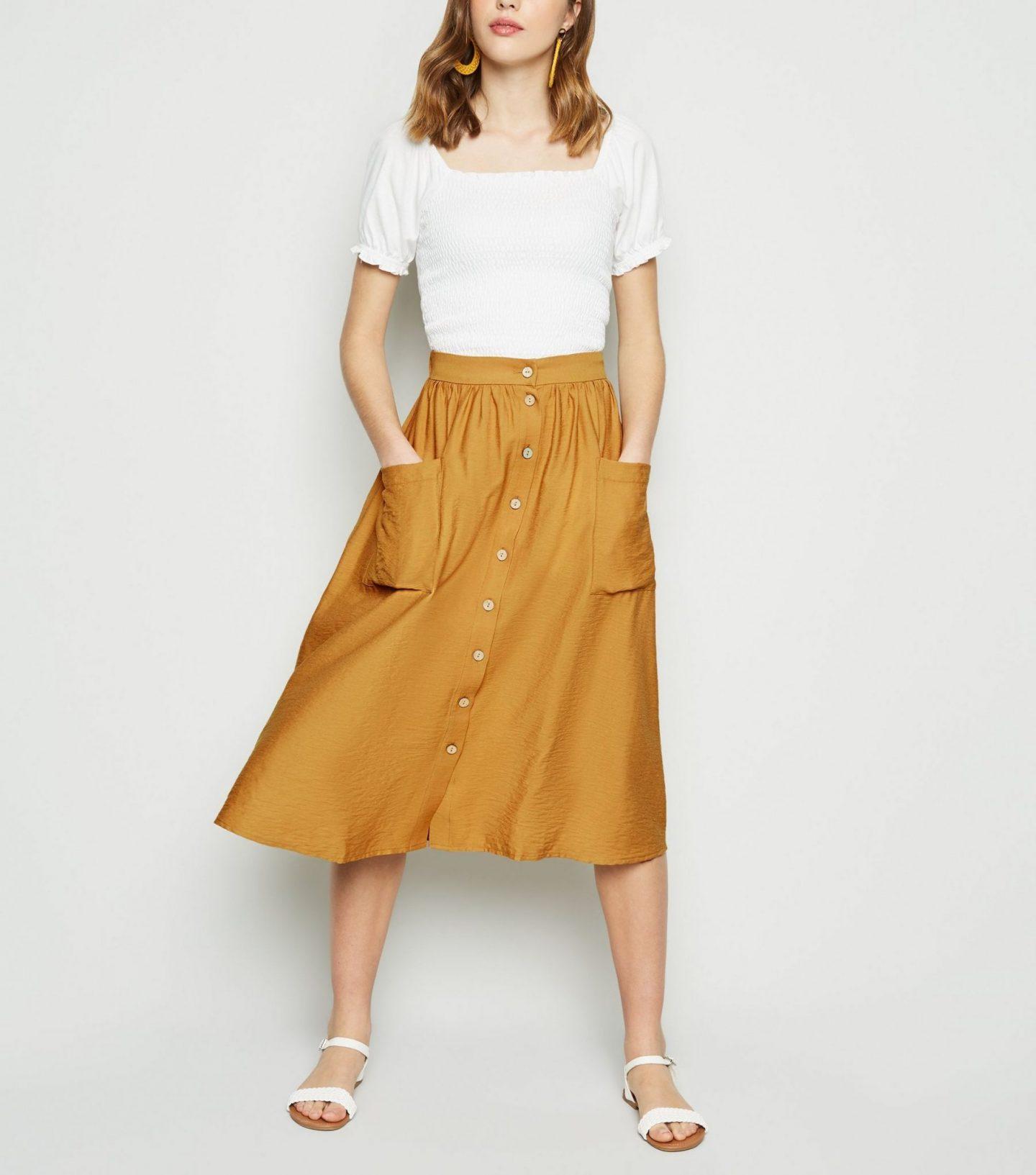 ca9af7b570 Denim Button Up Skirt New Look – DACC