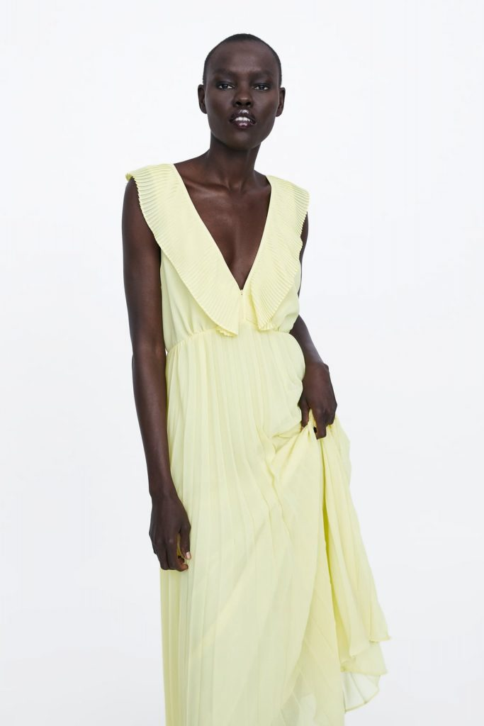 32c7eabf504 Zara dress. The light and airy fabric would be ideal for a wedding abroad  or if the weather finally picks up a bit at home.