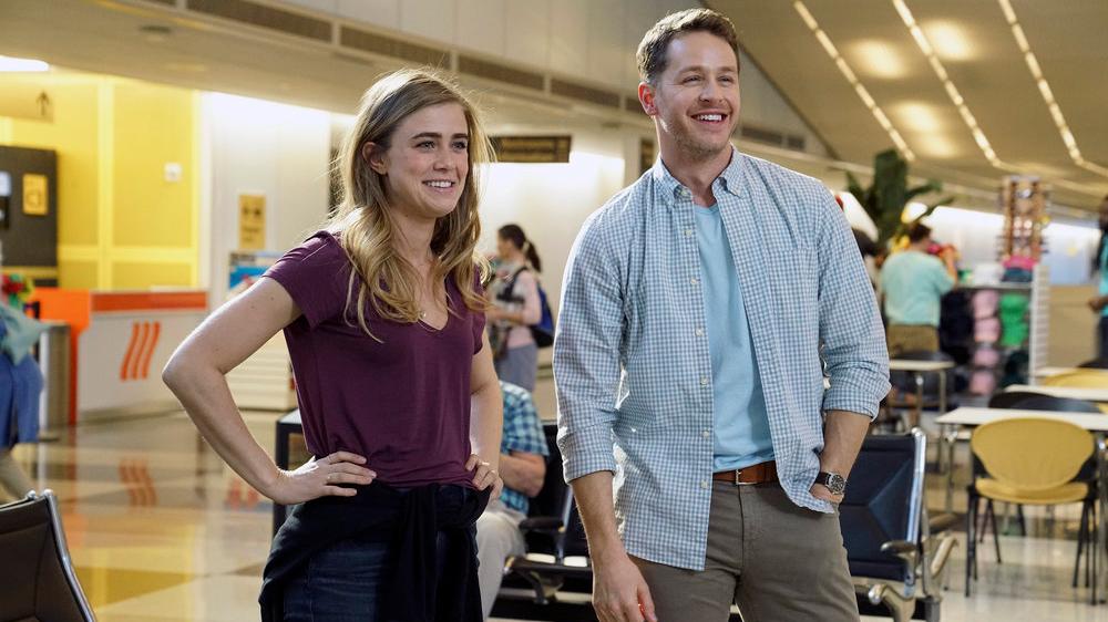"MANIFEST -- ""Pilot"" Episode 101 -- Pictured: (l-r) Melissa Roxburgh as Michaela Stone, Josh Dallas as Ben Stone -- (Photo by: David Giesbrecht/NBC/Warner Brothers)"