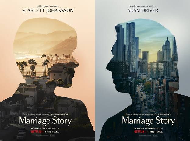 'Marriage Story' trailers show different sides to the end of a relationship